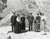 Dr. Chandler visiting Roosevelt Dam construction site, 1908.jpg