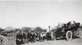 Dr. Chandler and tire repair along Apache Trail, 1908.jpg