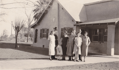 Chandler Family in Front of Harry Chandler House.jpg