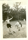 impromptu baseball game at the southern Quaker work camp